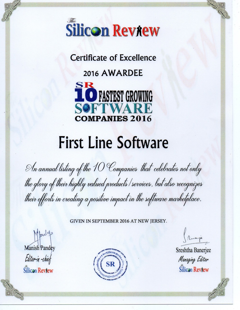 Silicon Review certificate2
