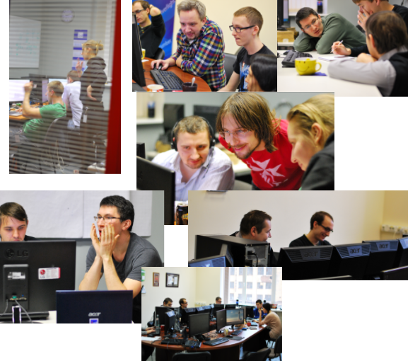 Photos from the Second Hackathon at First Line Software. Do the evalution.